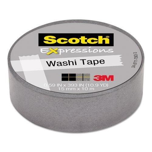 Scotch Expressions Washi Tape, 59 x 393 Inches, Silver (MMMC314SIL)