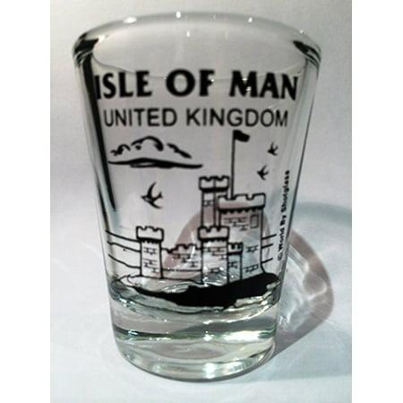 Isle Of Man United Kingdom Peel Castle Shot Glass