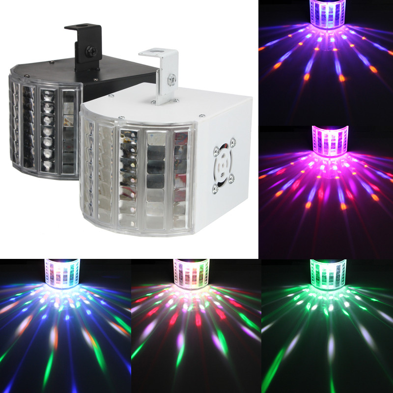 DJ Lights Sound Music Activated 18W RGB LED Strobe Effect Stage Light Disco Dance Party Show DMX512 AC110V/220V