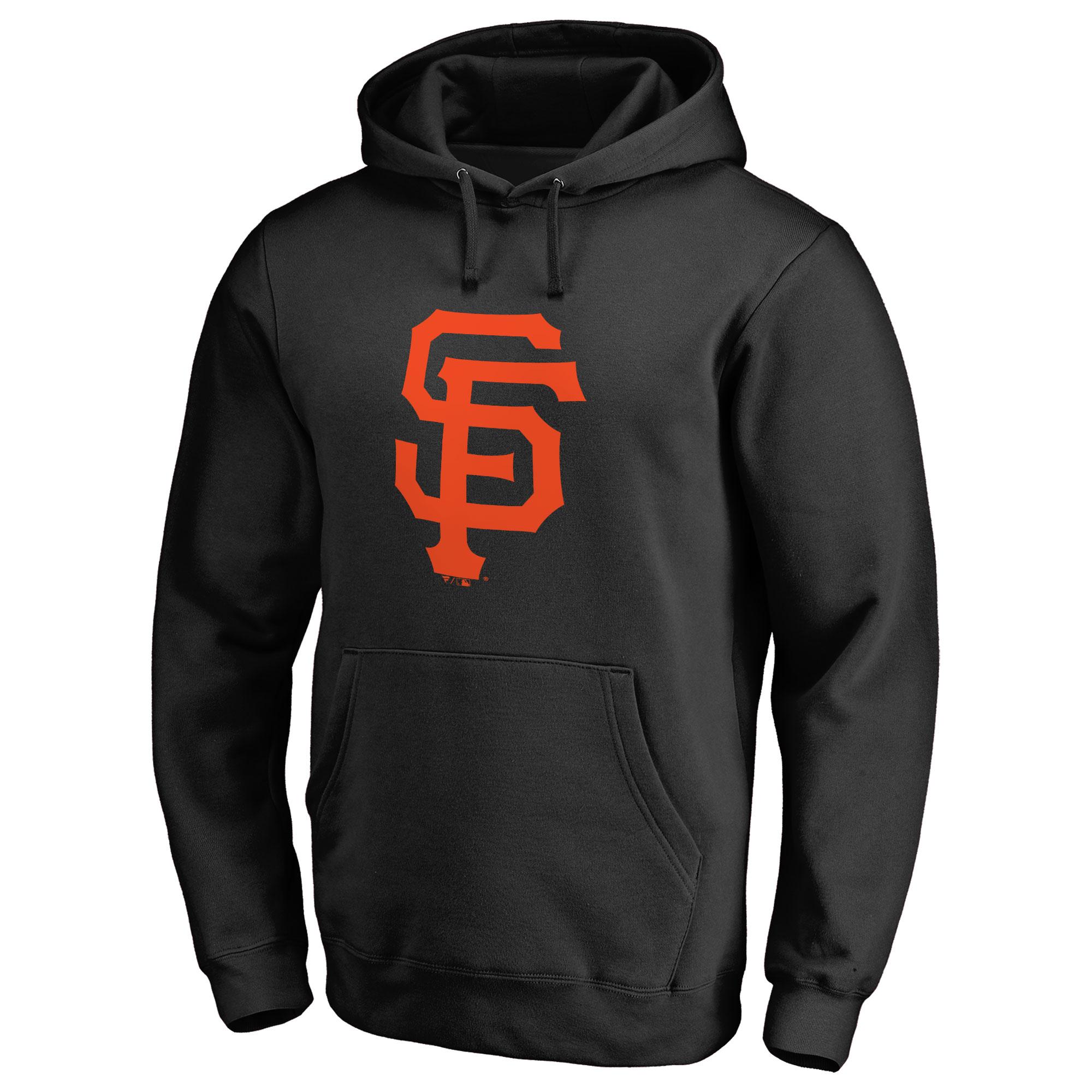 San Francisco Giants Team Color Primary Logo Pullover Hoodie - Black
