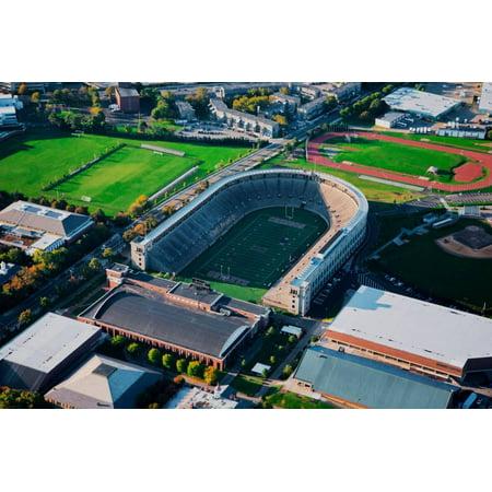 Harvard Ma Halloween (Aerial View of Soldiers Field, home of Harvard Crimson, Harvard, Cambridge, Boston, MA Print Wall)