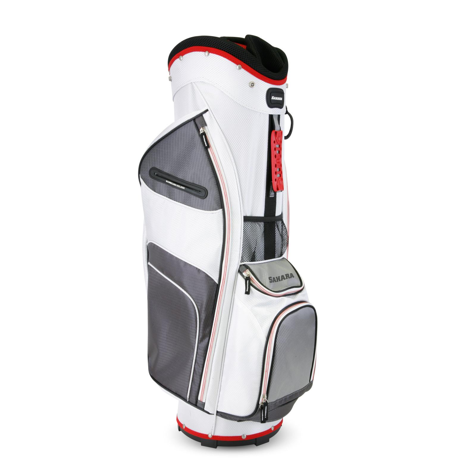 2015 Sahara Baja Lite Golf Cart Bag White/Gray/Red