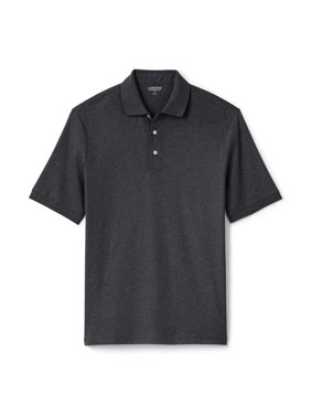Lands' End Men's Big & Tall Short Sleeve Supima Banded Polo