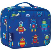 Olive Kids Robots Blue Insulated Lunch Box for Boys and Girls