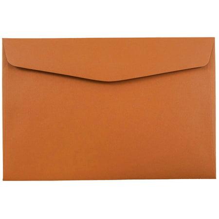 Jam Paper 6 X 9 Booklet Envelopes  Dark Orange  25 Pack