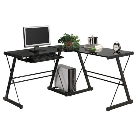 table furniture black lorenz desk glass products computer
