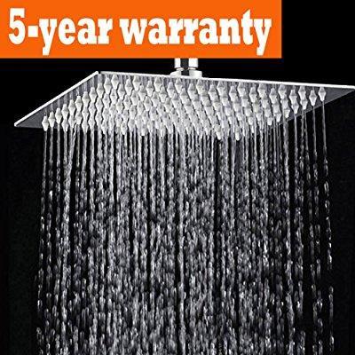 Ansvip 12 Inch Large Rain Shower Head Ultra Thin Luxury Rainfall Showerhead For