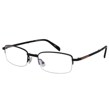 ff90b67338 Ebe Reading Glasses Mens Womens Rectangular Folding Black Half Rim  remarkable grade Anti Glare yt856 - Walmart.com