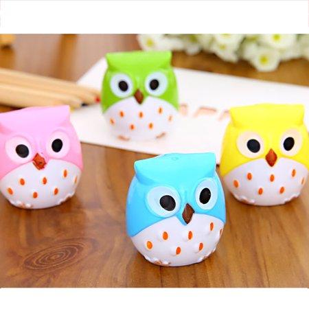 Womail Lovely Owl Pattern Pencil Sharpener School Kid's Favorite School Supplies Gifts