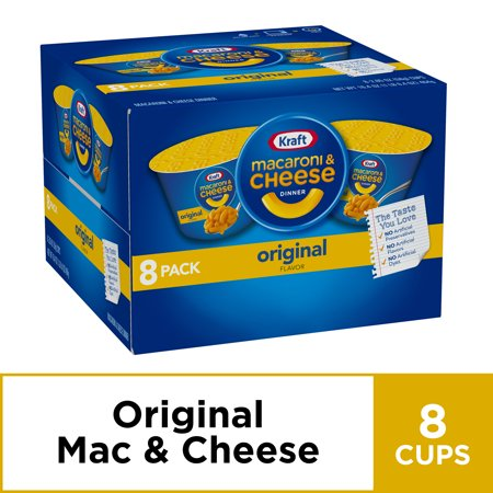 (2 Pack) Kraft Original Flavor Macaroni & Cheese Dinner 8-2.05 oz. Cups ()