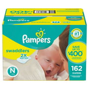 Pampers Swaddlers Diapers Size Newborn, 162 Count