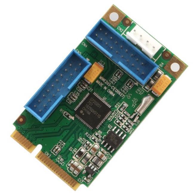 Mini PCI Express 4 port USB 3.0 Host Controller Card Renesas