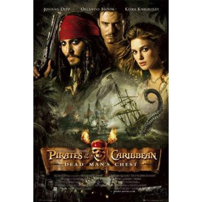 Pirates Of The Caribbean Poster -Dead Man's Chest Group New 24x36