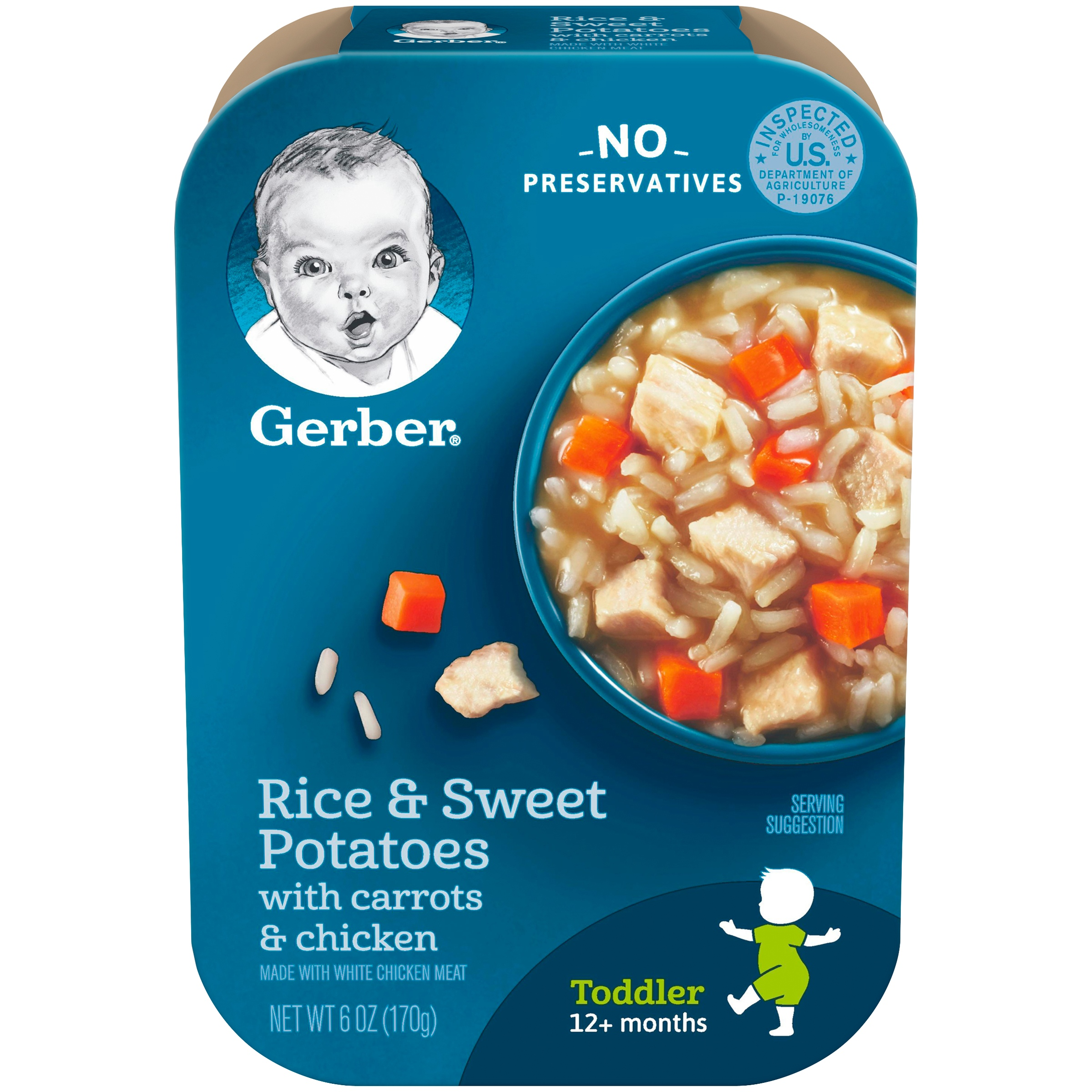 Gerber Lil' Meals, Rice and Sweet Potatoes with Carrots and Chicken, 6 oz Tray