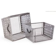 2-Pc Industrial Wire Bins
