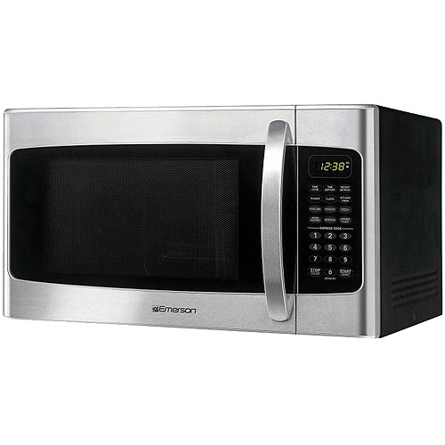 Emerson 1.1 cu ft Microwave Oven, Stainless Steel Front Finish