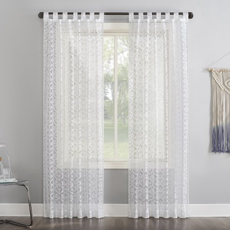 No. 918 Hope Macrame Lace Sheer Tab Top Curtain Panel ()