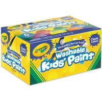 Crayola Washable Kid's Paint, Assorted Colors 6 ea (Pack of 2)