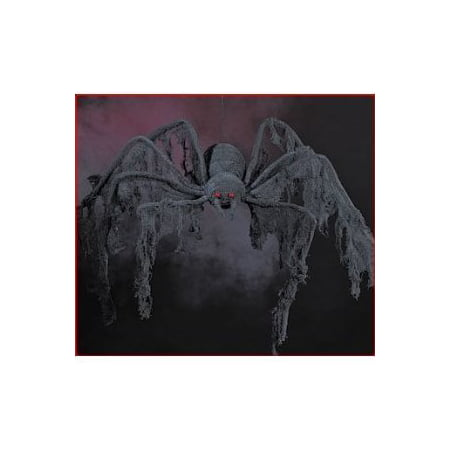 4 ft Large Huge Black Creepy Cloth Spider Halloween - Hue Halloween App