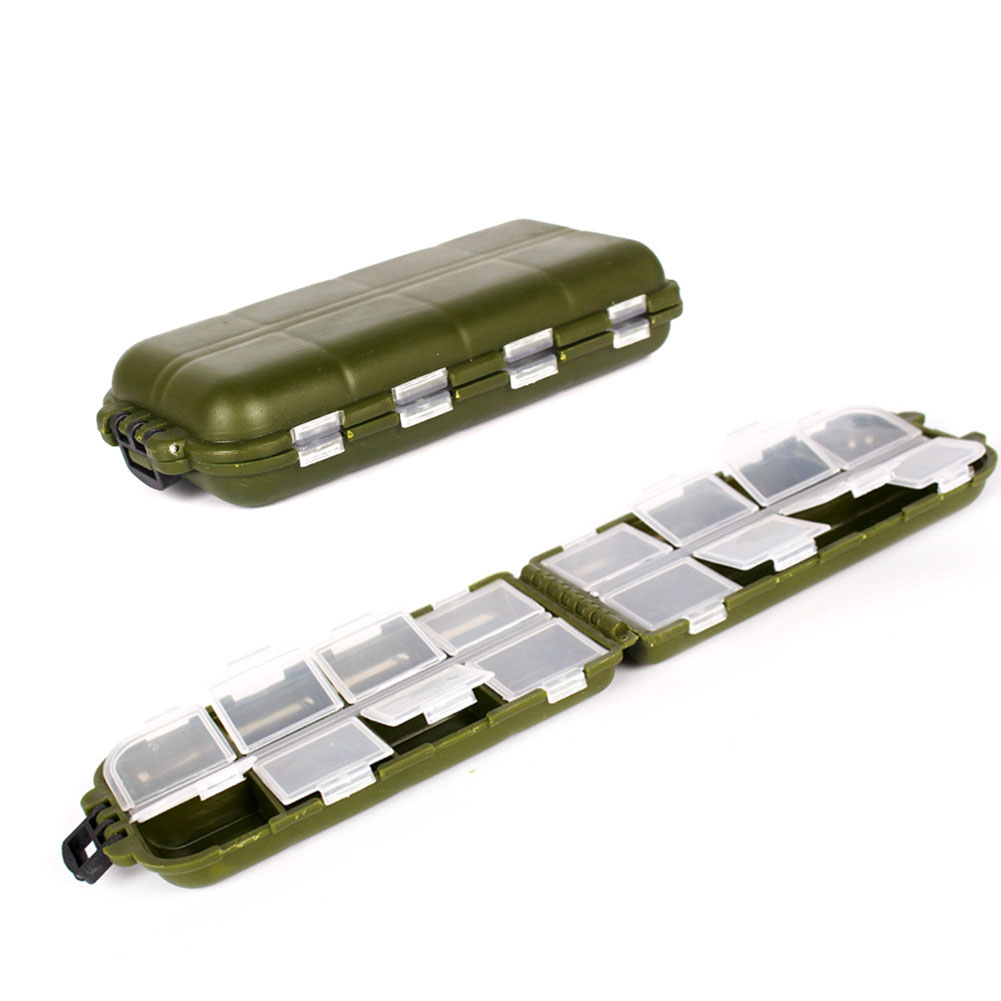 Redcolourful 16 Compartments Waterproof Hard Fishing Tackle Box Hooks Lure Baits Storage Box by