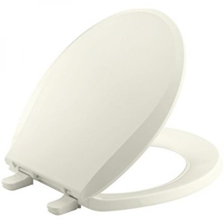 Kohler K 4689 96 Cachet With Quick Release Hinges Round Front Toilet Seat  Biscuit