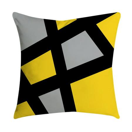 Pinele Leaf Yellow Pillow Case Sofa Car Waist Throw Cushion Cover Home Decor
