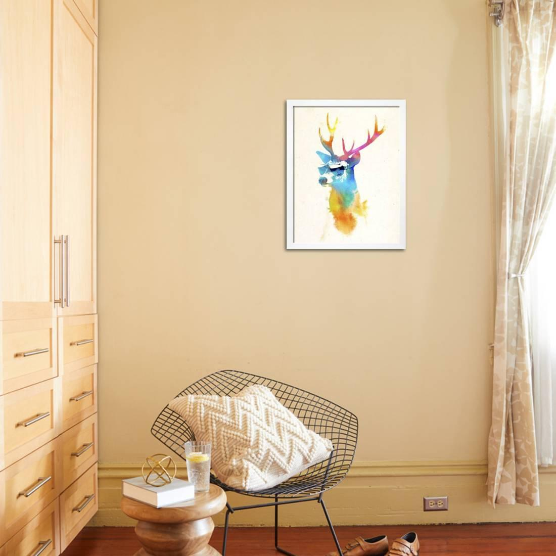 Sunny Stag Framed Print Wall Art By Robert Farkas - Walmart.com