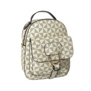 Women Girl Mini Faux Leather Satchel Rucksack Small Backpack, POPPY Modern Flair New Arrive, Beige