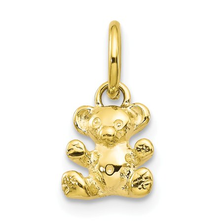 Yellow Gold Teddy Bear Charm - 10k Yellow Gold TEDDY BEAR CHARM