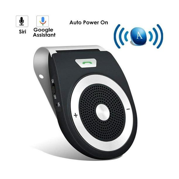 Gliving Handsfree Bluetooth Car Kit Auto Power On Visor With Motion Sensor Wirefree 4 1 Hands Free In Car Speakerphone Kits For Smartphone Devices Black Walmart Com Walmart Com