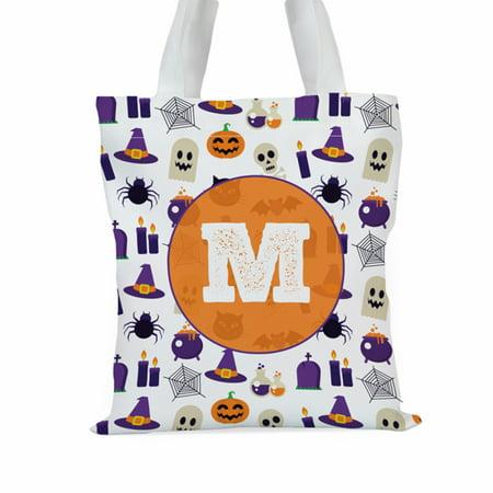 Halloween Themed Custom Large Trick or Treat Tote Bag - Christian Themed Halloween Treats