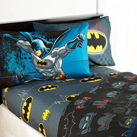 Warner Brothers Batman u0022Guardian Speedu0022 Kids Bedding Sheet Set