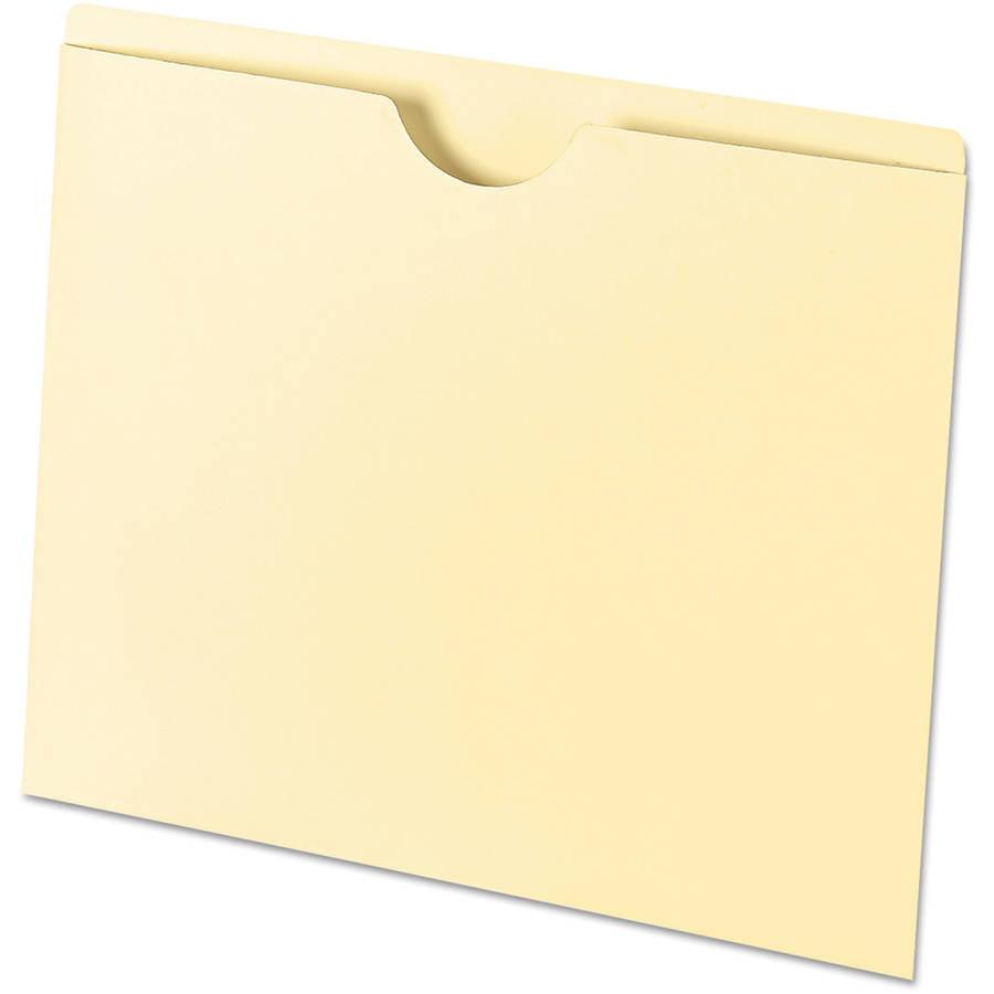 Universal Economical File Jackets, Letter, 11-Point Manila, 100/Box