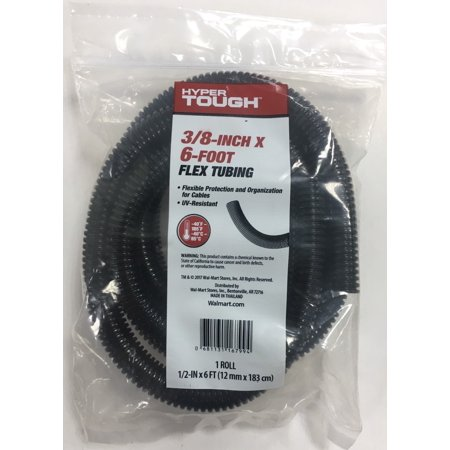 Hyper Tough 3/8 Inch X 6 Ft Uv Black Flex Tubing (2 Inch By 2 Inch Square Tubing)