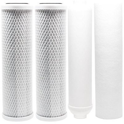 Replacement Filter Kit for Watts RO-TFM-5SV RO System - Includes Carbon Block Fi