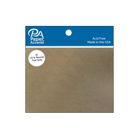 Brown Postcard - Post Cards 4.25x5.5 Blank 50pc Brown Bag