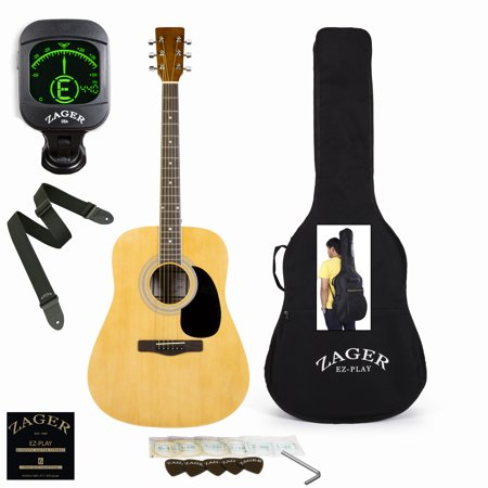 Jackson Custom Guitar (Easy Play No Sore Fingers Acoustic Guitar Performer Package with Custom Easy Neck design, Low pressure bracing & Soft touch)