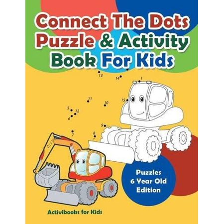 Connect the Dots Puzzle & Activity Book for Kids - Puzzles 6 Year Old - Halloween Party Activities For 11 Year Olds