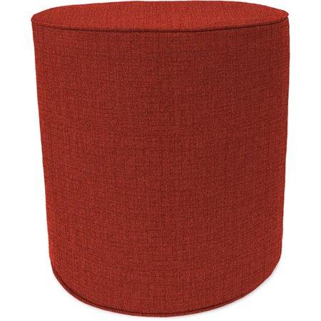 Fine Jordan Manufacturing Round Outdoor Patio Pouf Ottoman Husk Texture Brick Squirreltailoven Fun Painted Chair Ideas Images Squirreltailovenorg
