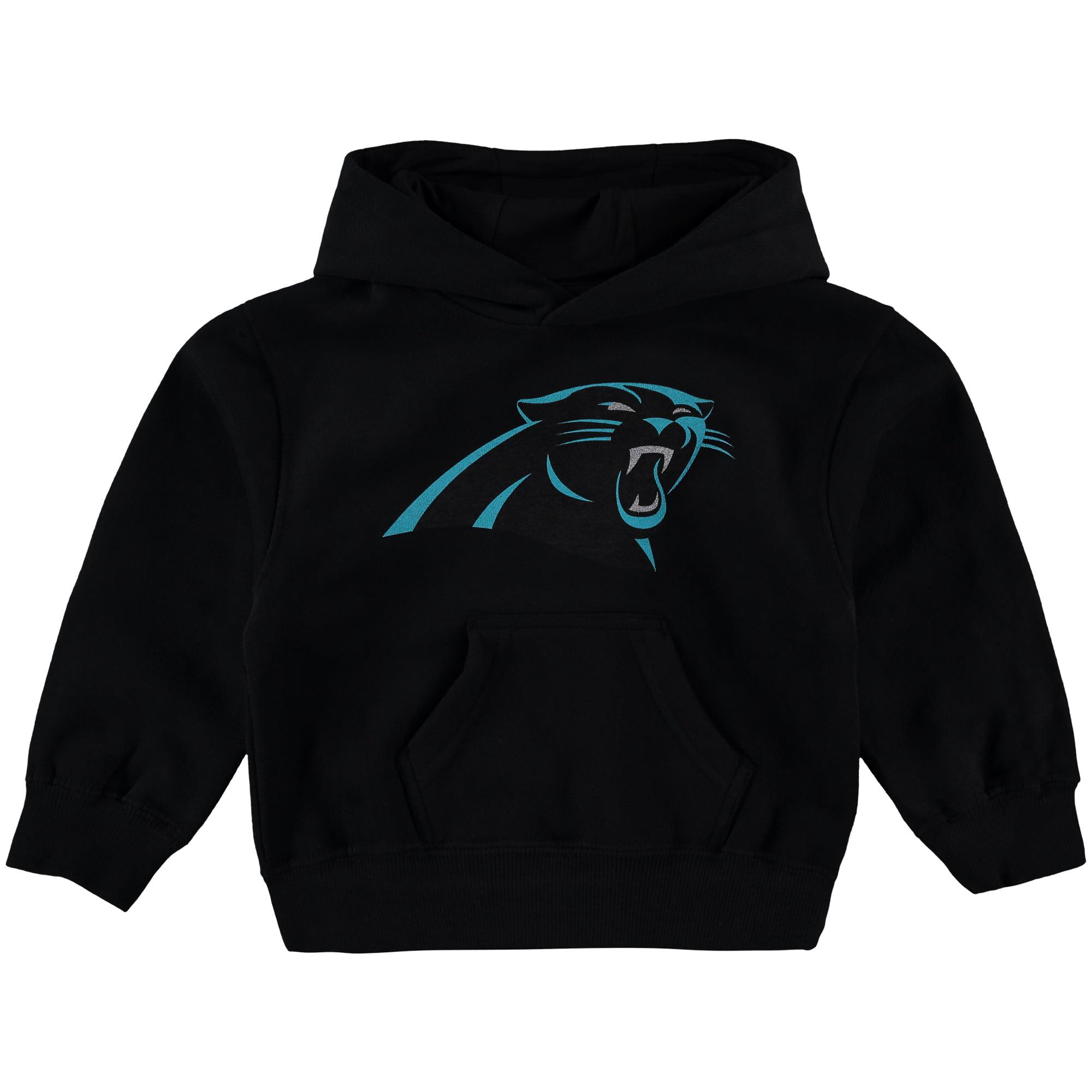 Carolina Panthers Toddler Team Logo Fleece Pullover Hoodie - Black
