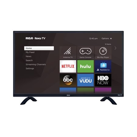 "RCA 32"" Class HD (720P) HD Roku Smart LED TV (RTR3260-W)"