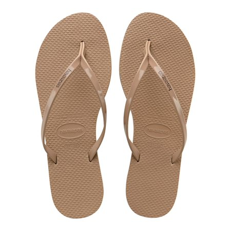 Slim Metallic Flip Flops