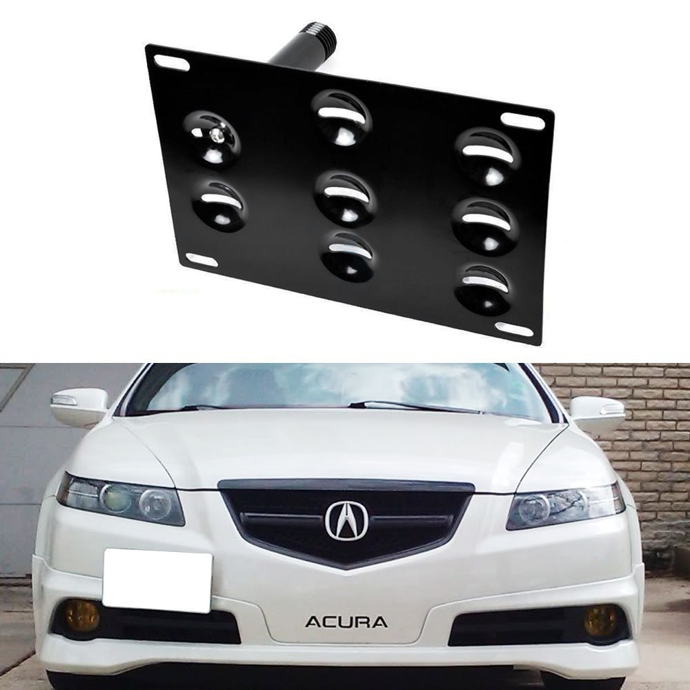 Tow Hook License Plate Bumper Mount Bracket For Honda S2000 AP1 AP2 FIT Acura TL