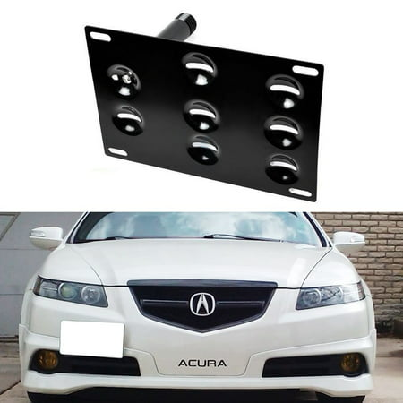 iJDMTOY Front Bumper Tow Hole Adapter License Plate Mounting Bracket For Honda S2000 FIT Acura