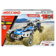 Meccano by Erector, 10 in 1 Rally Racer Model Vehicle Building Kit, STEM Engineering Education Toy for Ages 8 and up