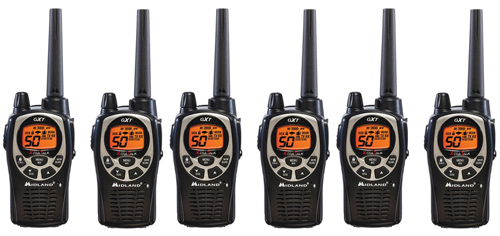 Midland GXT1000VP4 Xtra Talk Two Way Radio 50 Channels 36 Mile Range JIS4 Waterproof (6 Pack) by Midland