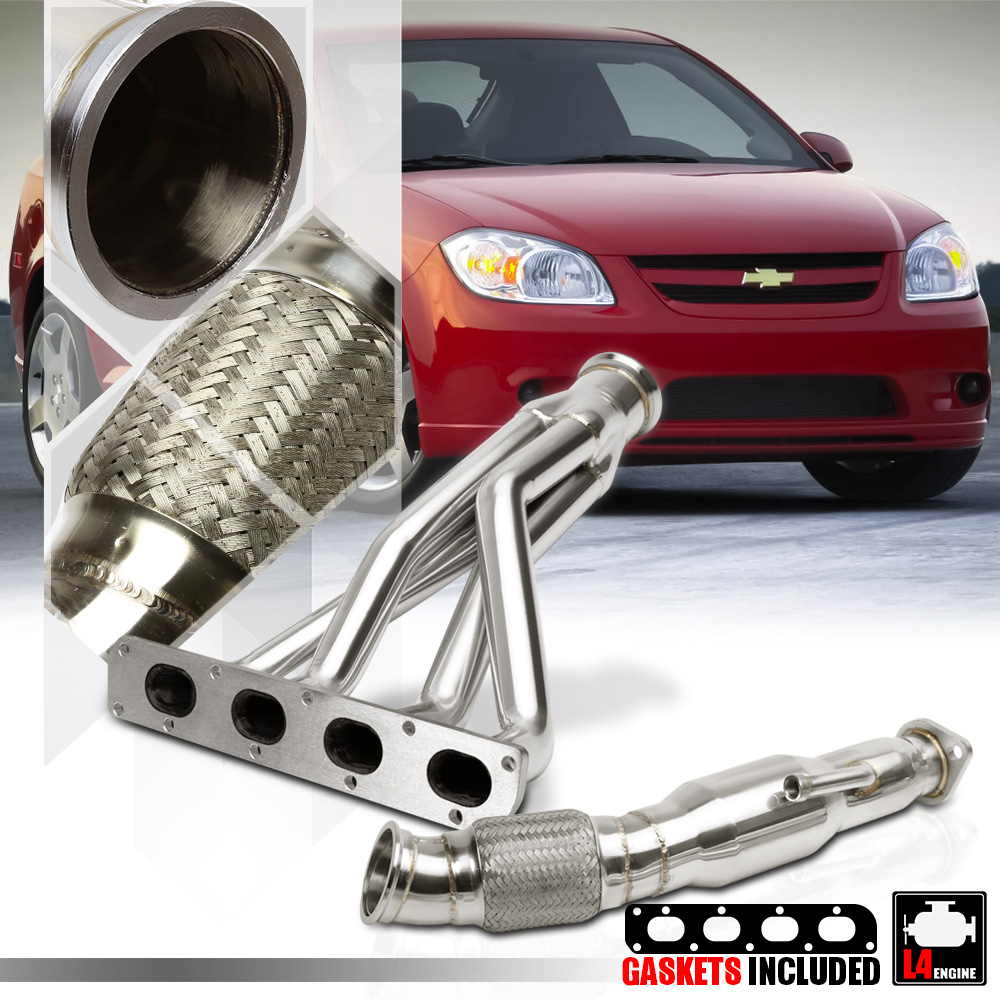 Stainless Steel Exhaust Header Manifold+Downpipe For 05-07 Chevrolet Cobalt