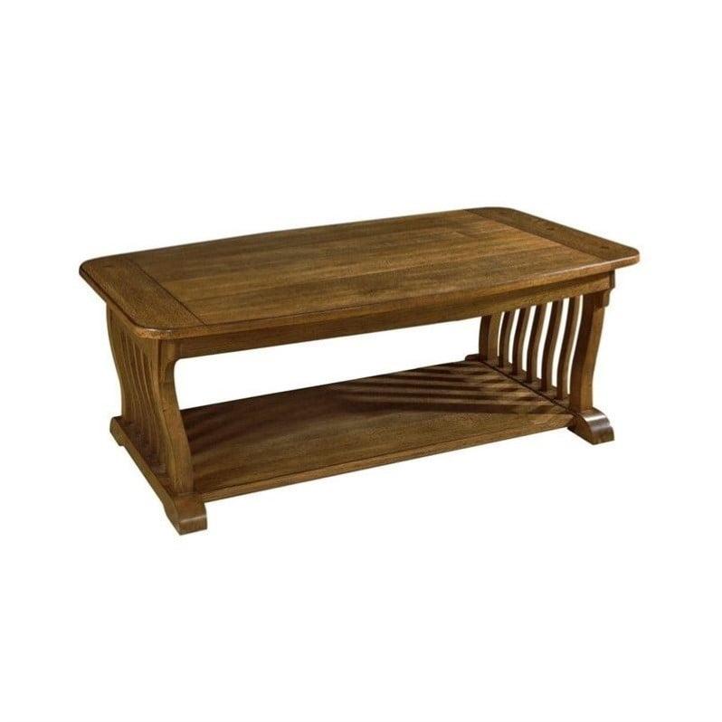 Somerton Craftsman Coffee Table in Medium Brown Oak