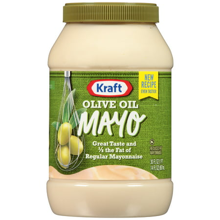 Kraft Mayo Mayonnaise Olive Oil Reduced Fat, 30 FL OZ (887ml) Jar