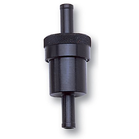 Russell Performance Black Street Fuel Filter (3in Length 1-1/8in diameter 5/16in inlet/outlet)